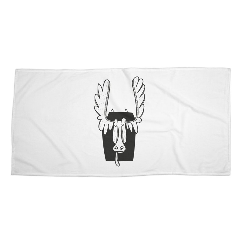 Moose Accessories Beach Towel by coclodesign's Artist Shop
