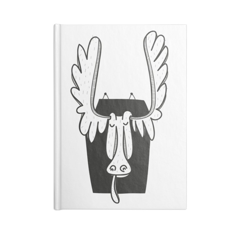 Moose Accessories Lined Journal Notebook by coclodesign's Artist Shop