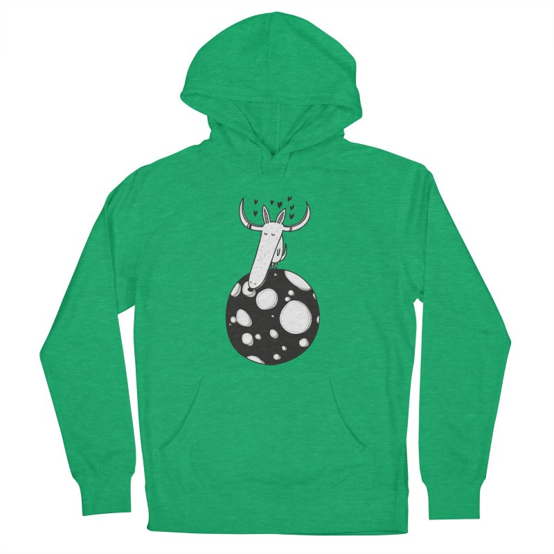 Moon Women's French Terry Pullover Hoody by coclodesign's Artist Shop