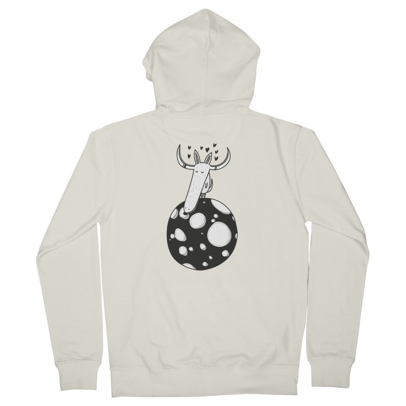 Moon Men's French Terry Zip-Up Hoody by coclodesign's Artist Shop