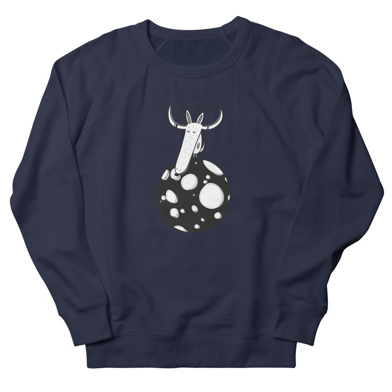 Moon Women's French Terry Sweatshirt by coclodesign's Artist Shop