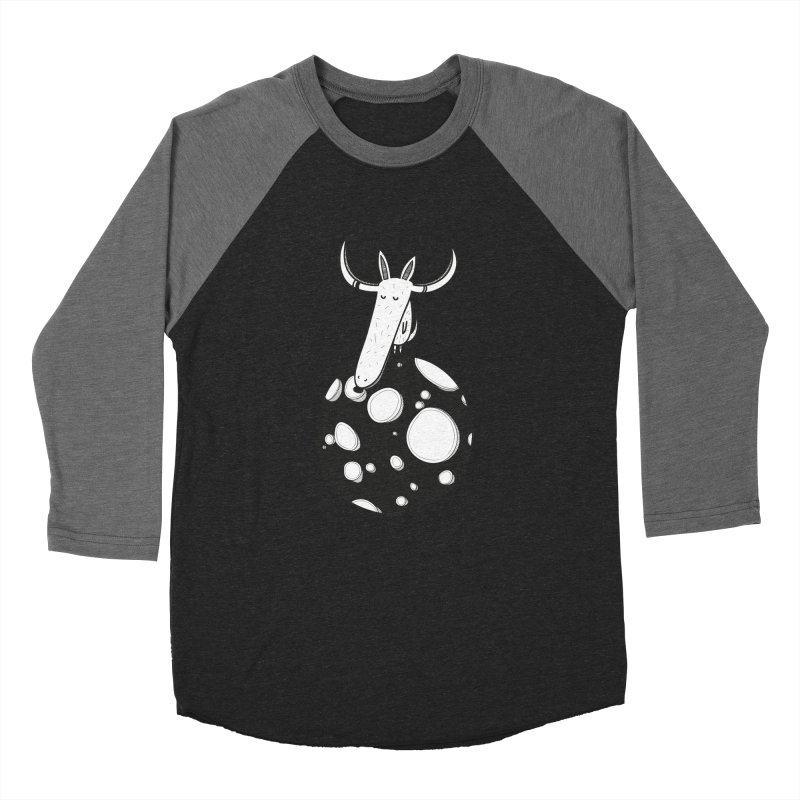 Moon Women's Baseball Triblend T-Shirt by coclodesign's Artist Shop