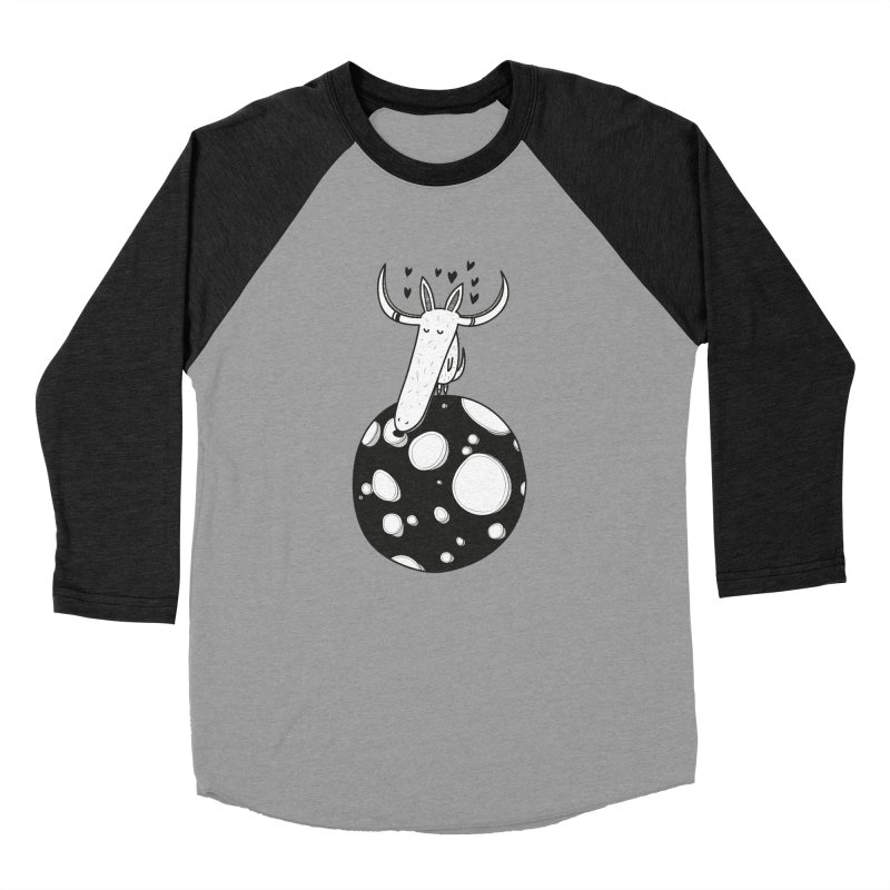 Moon Women's Baseball Triblend Longsleeve T-Shirt by coclodesign's Artist Shop