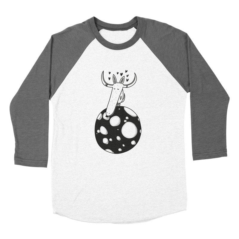 Moon Men's Baseball Triblend T-Shirt by coclodesign's Artist Shop
