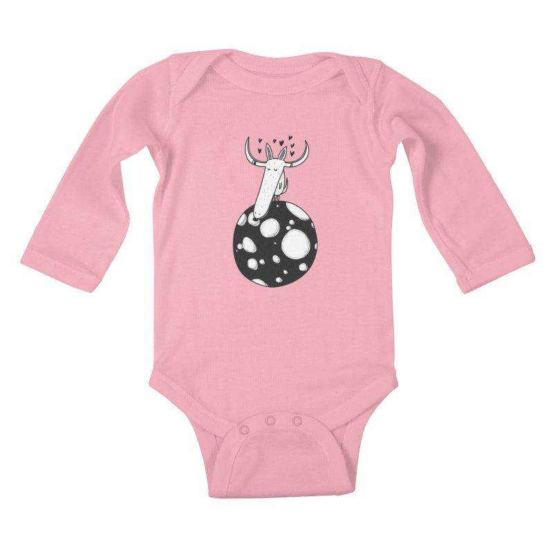 Moon Kids Baby Longsleeve Bodysuit by coclodesign's Artist Shop