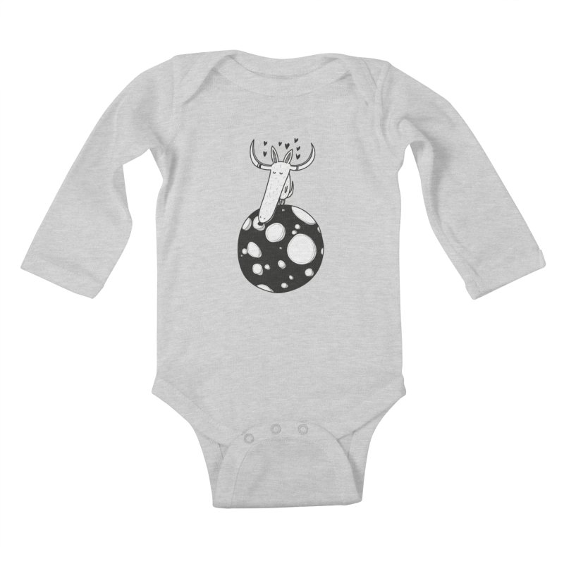 Moon Kids Baby Longsleeve Bodysuit by coclodesign's Artist Shop