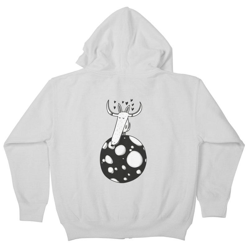 Moon Kids Zip-Up Hoody by coclodesign's Artist Shop