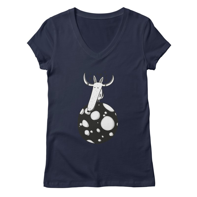 Moon Women's V-Neck by coclodesign's Artist Shop