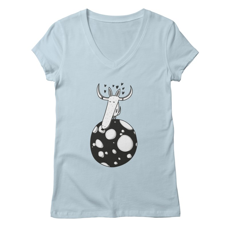 Moon Women's Regular V-Neck by coclodesign's Artist Shop