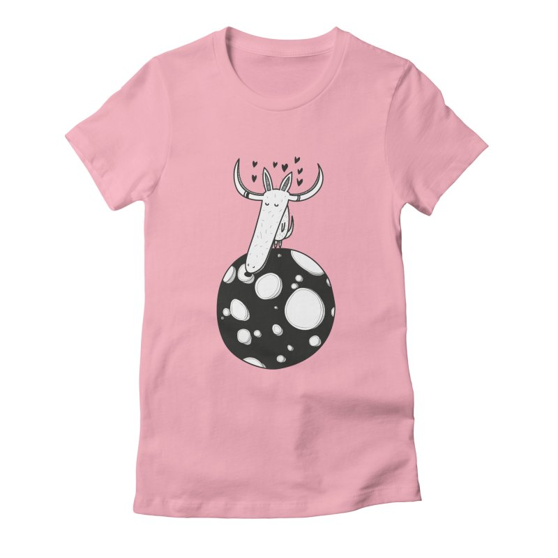 Moon Women's Fitted T-Shirt by coclodesign's Artist Shop