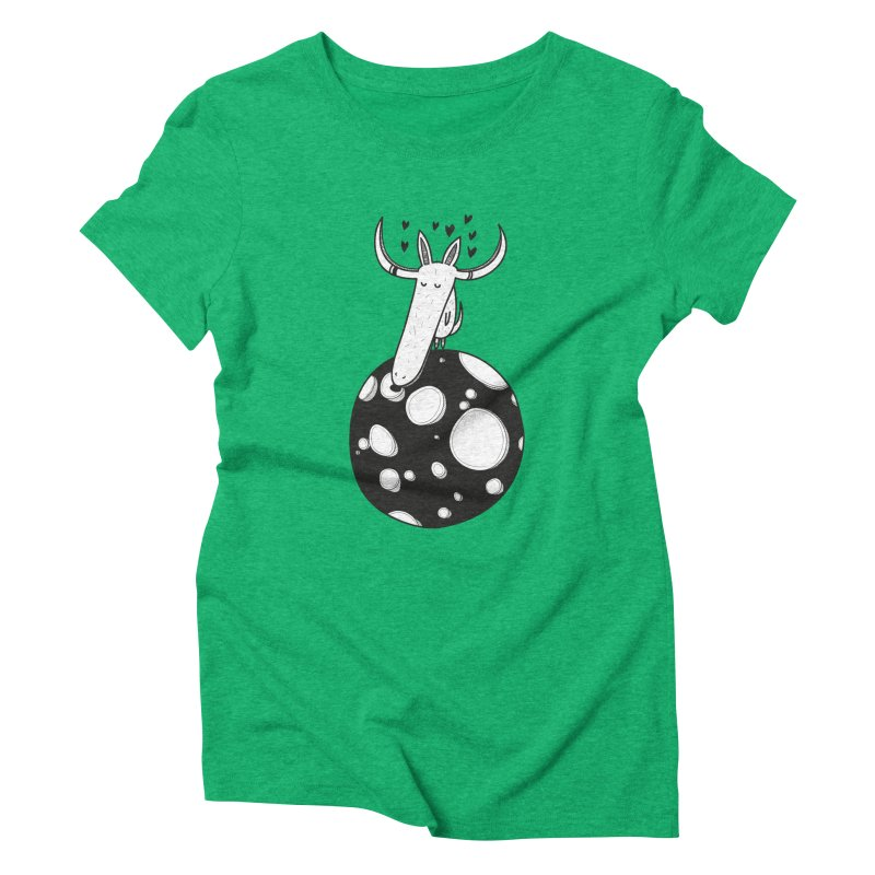 Moon Women's Triblend T-shirt by coclodesign's Artist Shop