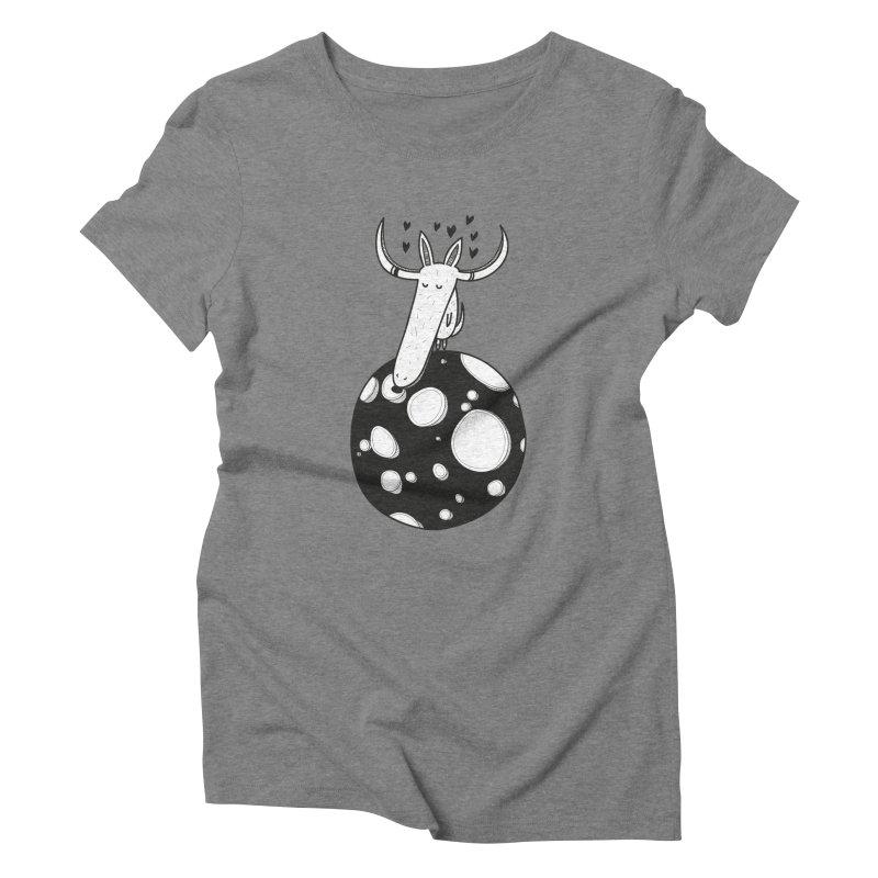 Moon Women's Triblend T-shirt by coclodesign's Artist Shop