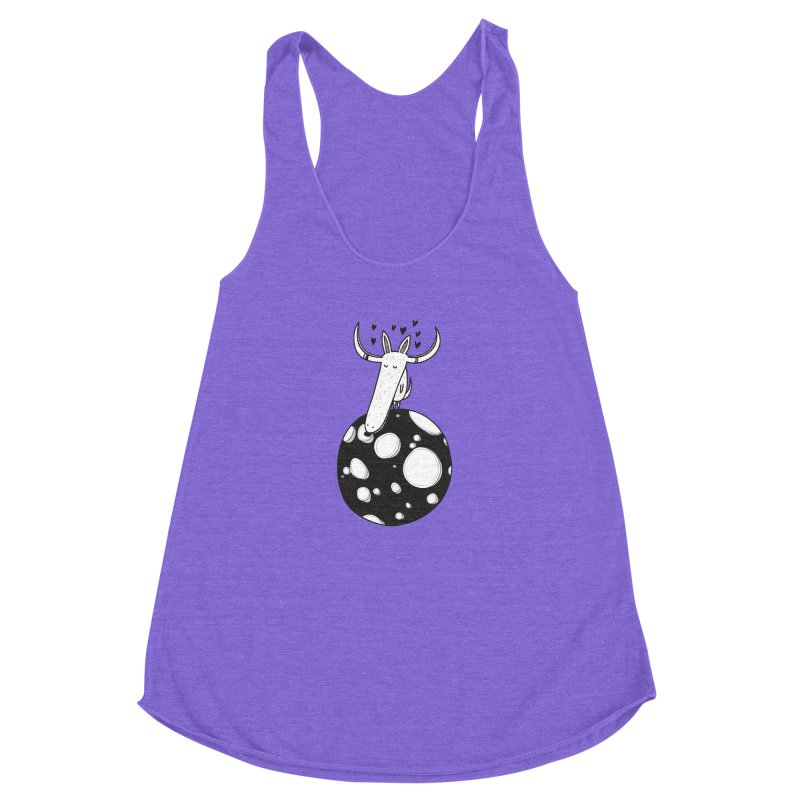 Moon Women's Racerback Triblend Tank by coclodesign's Artist Shop