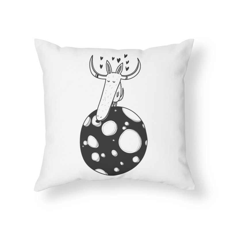 Moon Home Throw Pillow by coclodesign's Artist Shop