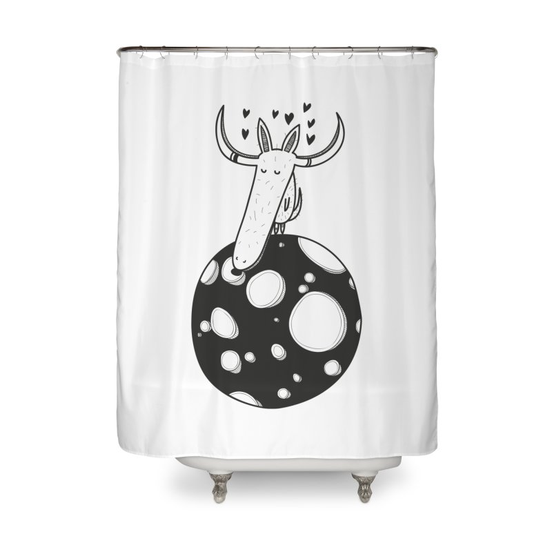 Moon Home Shower Curtain by coclodesign's Artist Shop