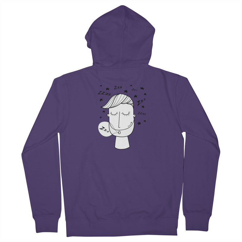 Zzzzz zzzz Women's French Terry Zip-Up Hoody by coclodesign's Artist Shop