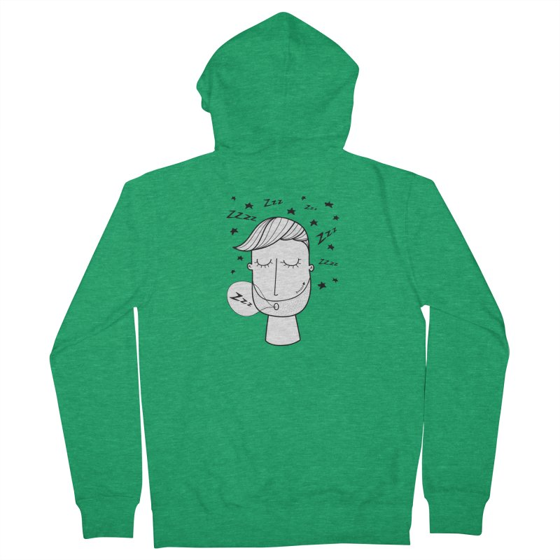 Zzzzz zzzz Men's French Terry Zip-Up Hoody by coclodesign's Artist Shop
