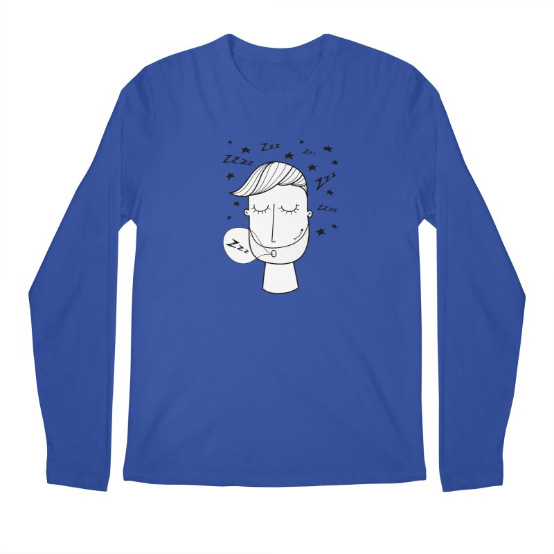 Zzzzz zzzz Men's Regular Longsleeve T-Shirt by coclodesign's Artist Shop