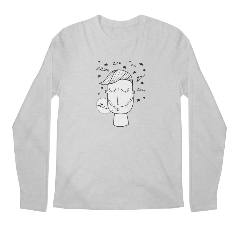 Zzzzz zzzz Men's Regular Longsleeve T-Shirt by coclodesign's Artist Shop