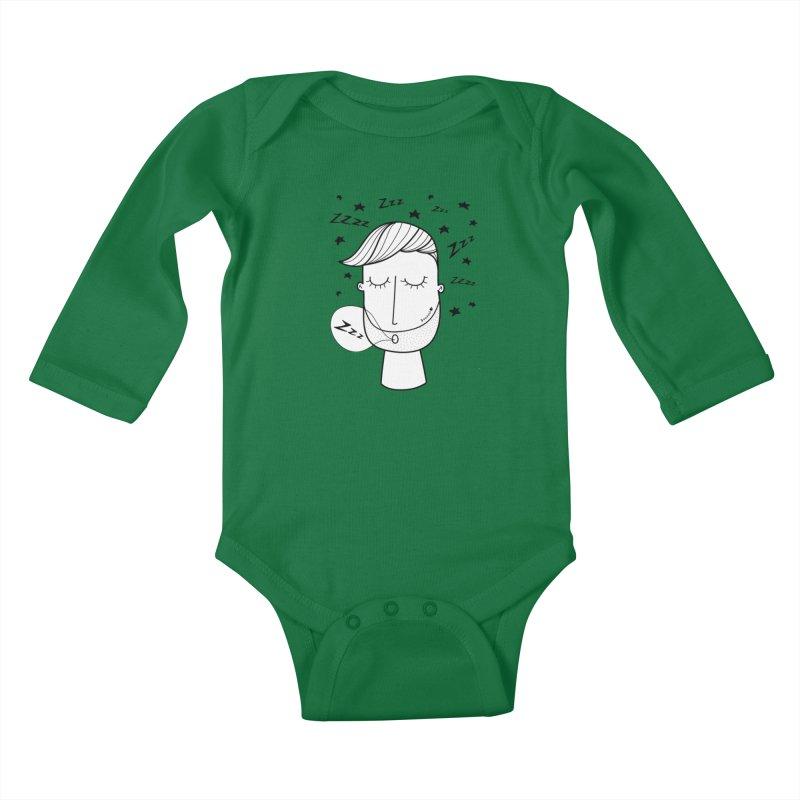 Zzzzz zzzz Kids Baby Longsleeve Bodysuit by coclodesign's Artist Shop