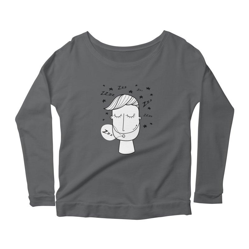 Zzzzz zzzz Women's Scoop Neck Longsleeve T-Shirt by coclodesign's Artist Shop