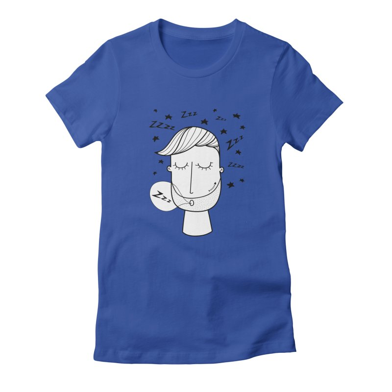 Zzzzz zzzz Women's Fitted T-Shirt by coclodesign's Artist Shop