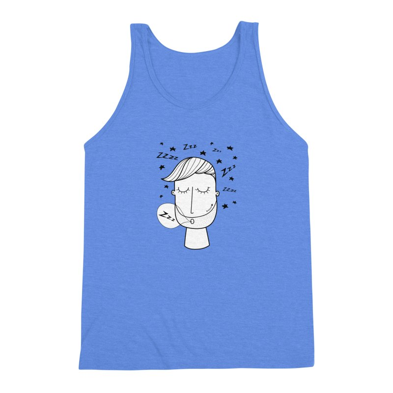 Zzzzz zzzz Men's Triblend Tank by coclodesign's Artist Shop