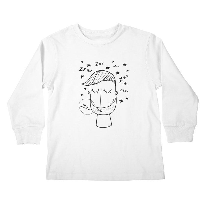 Zzzzz zzzz Kids Longsleeve T-Shirt by coclodesign's Artist Shop