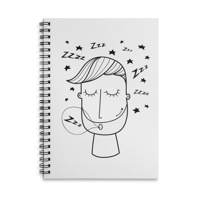 Zzzzz zzzz Accessories Lined Spiral Notebook by coclodesign's Artist Shop