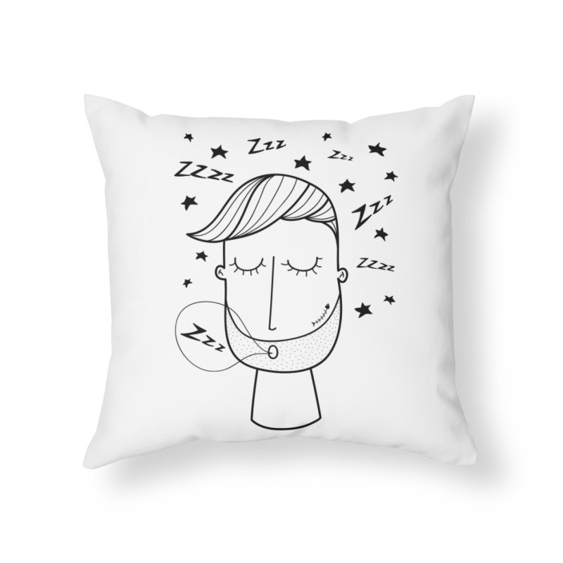 Zzzzz zzzz Home Throw Pillow by coclodesign's Artist Shop