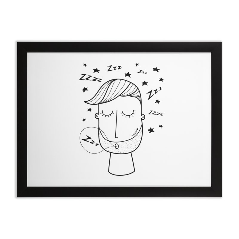 Zzzzz zzzz Home Framed Fine Art Print by coclodesign's Artist Shop