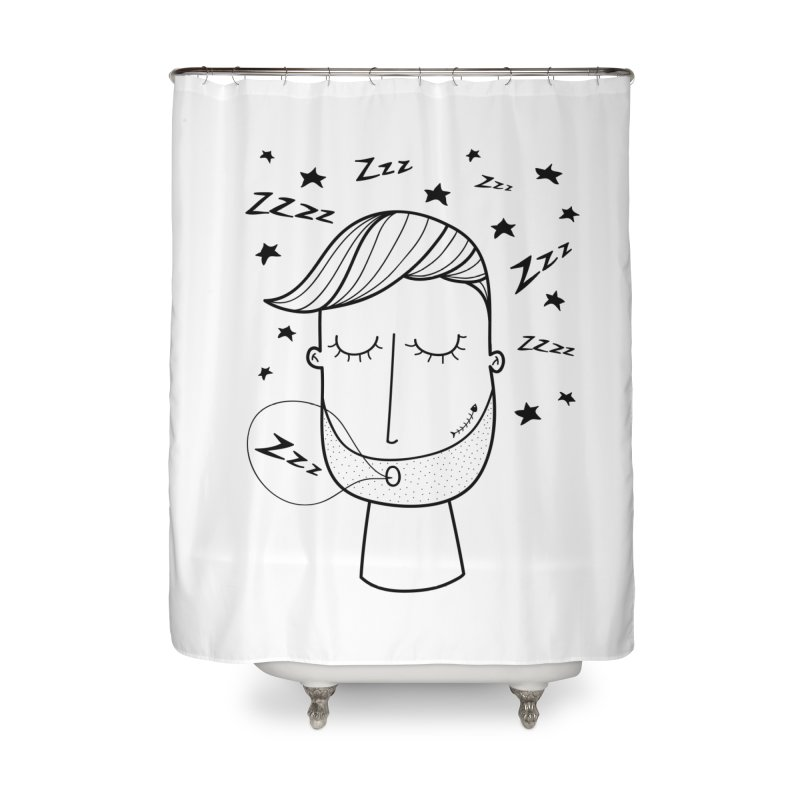 Zzzzz zzzz Home Shower Curtain by coclodesign's Artist Shop
