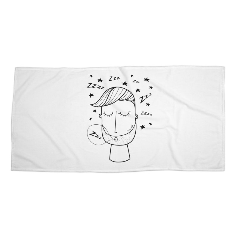 Zzzzz zzzz Accessories Beach Towel by coclodesign's Artist Shop