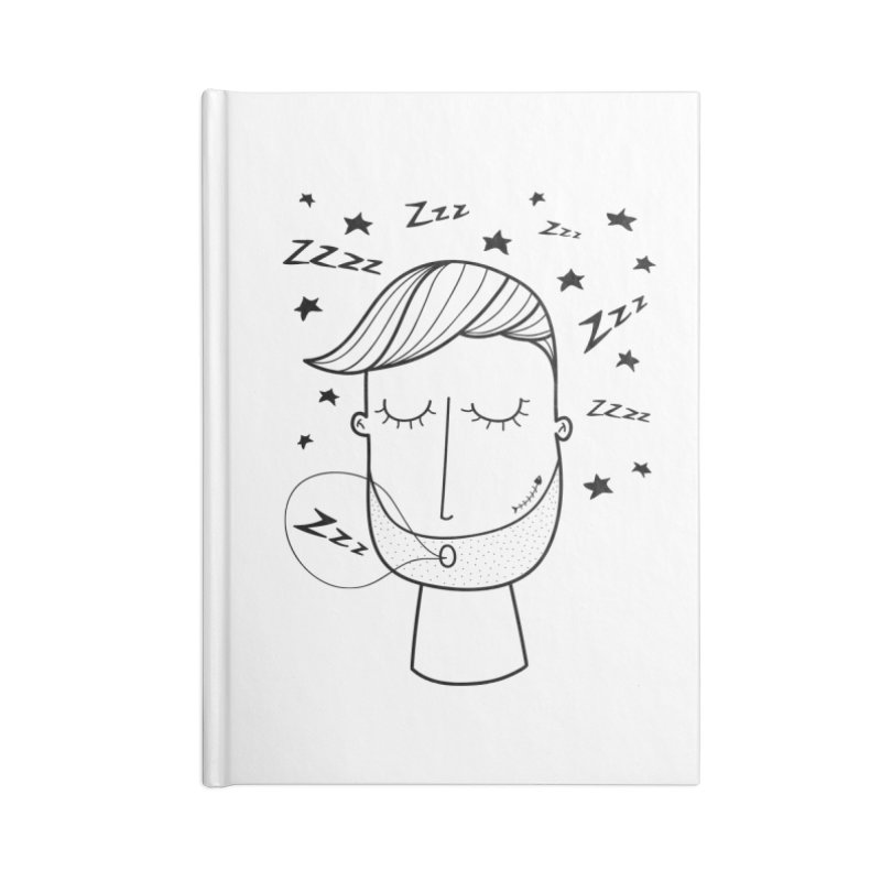 Zzzzz zzzz Accessories Lined Journal Notebook by coclodesign's Artist Shop