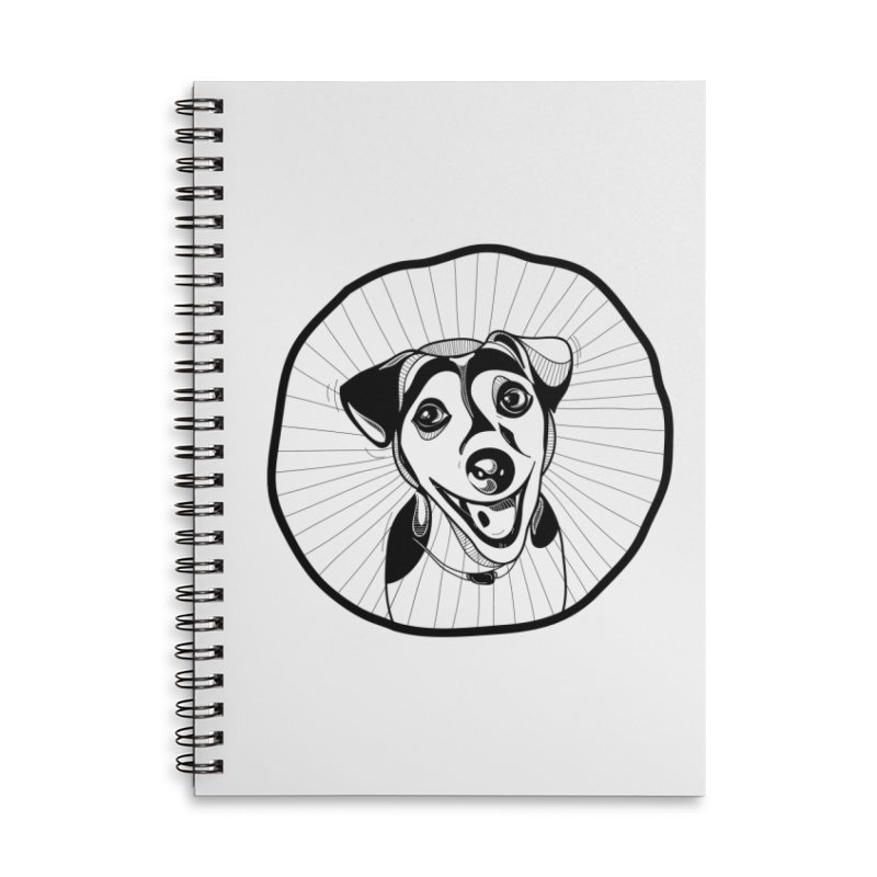 Bau bau Accessories Lined Spiral Notebook by coclodesign's Artist Shop