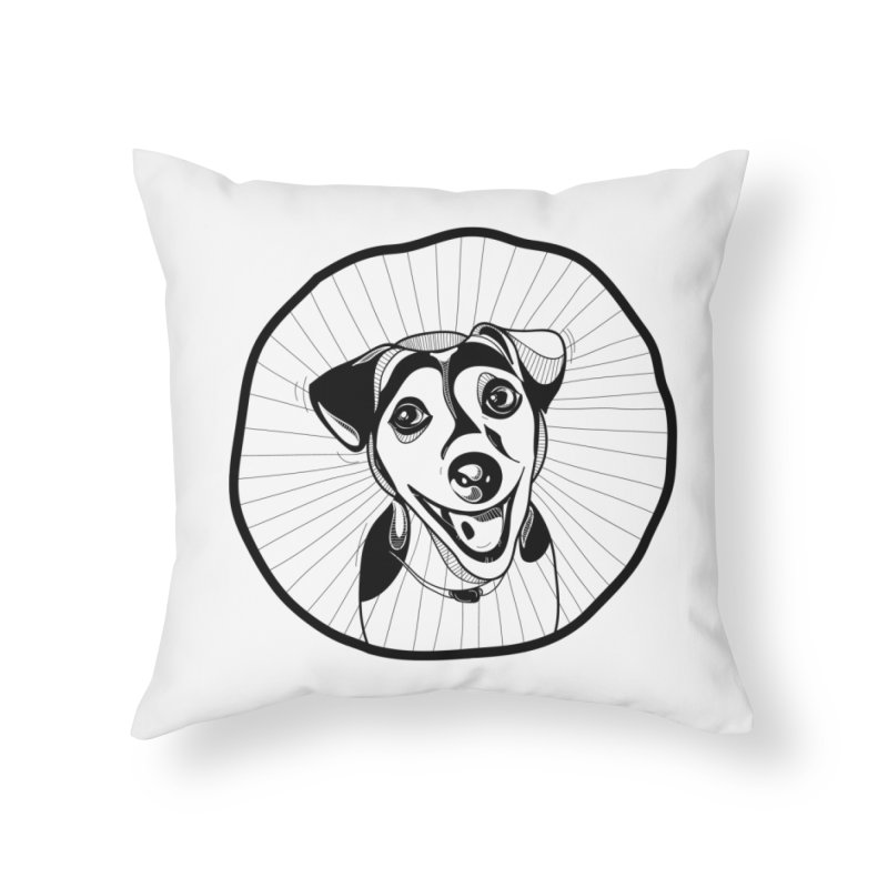 Bau bau Home Throw Pillow by coclodesign's Artist Shop
