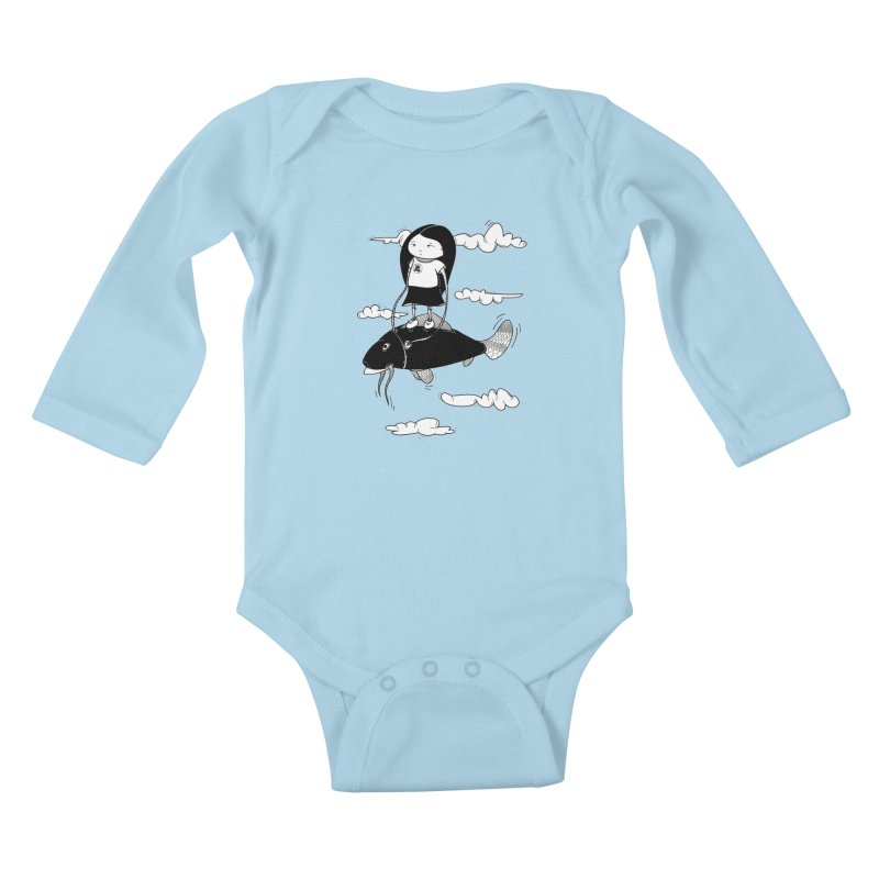 Zeginella1 Kids Baby Longsleeve Bodysuit by coclodesign's Artist Shop
