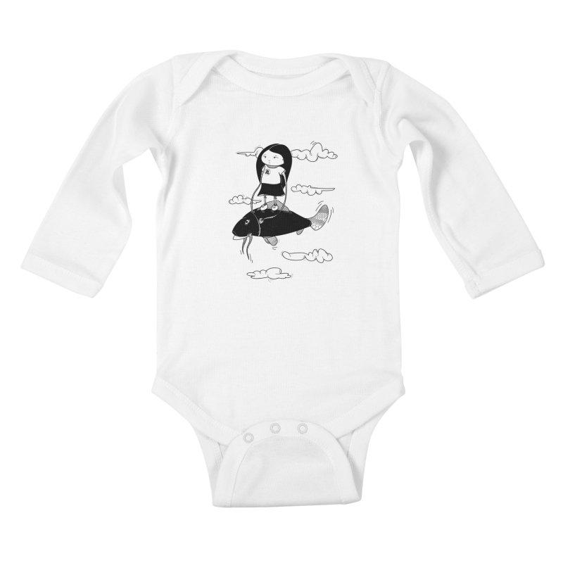 Zeginella1 Kids Baby Longsleeve Bodysuit by coclodesign's Artist Shop
