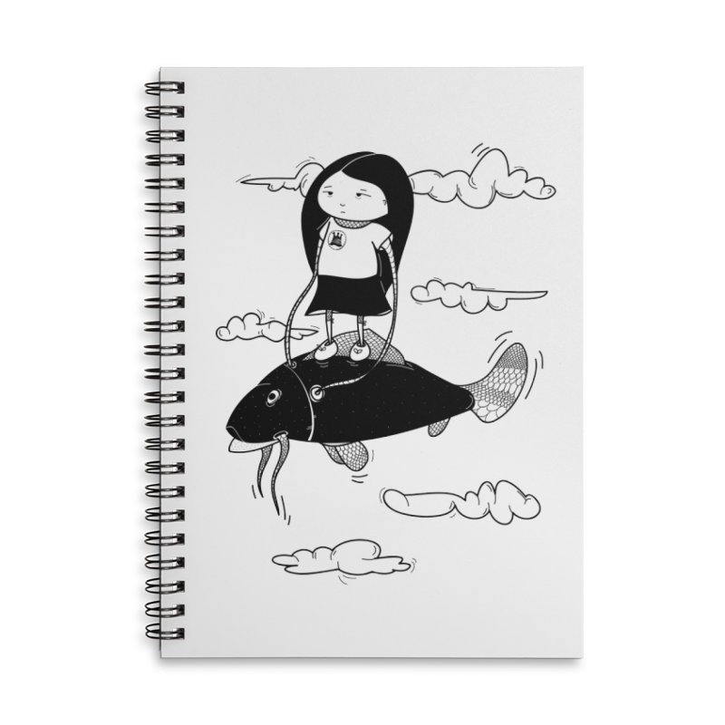Zeginella1 Accessories Lined Spiral Notebook by coclodesign's Artist Shop