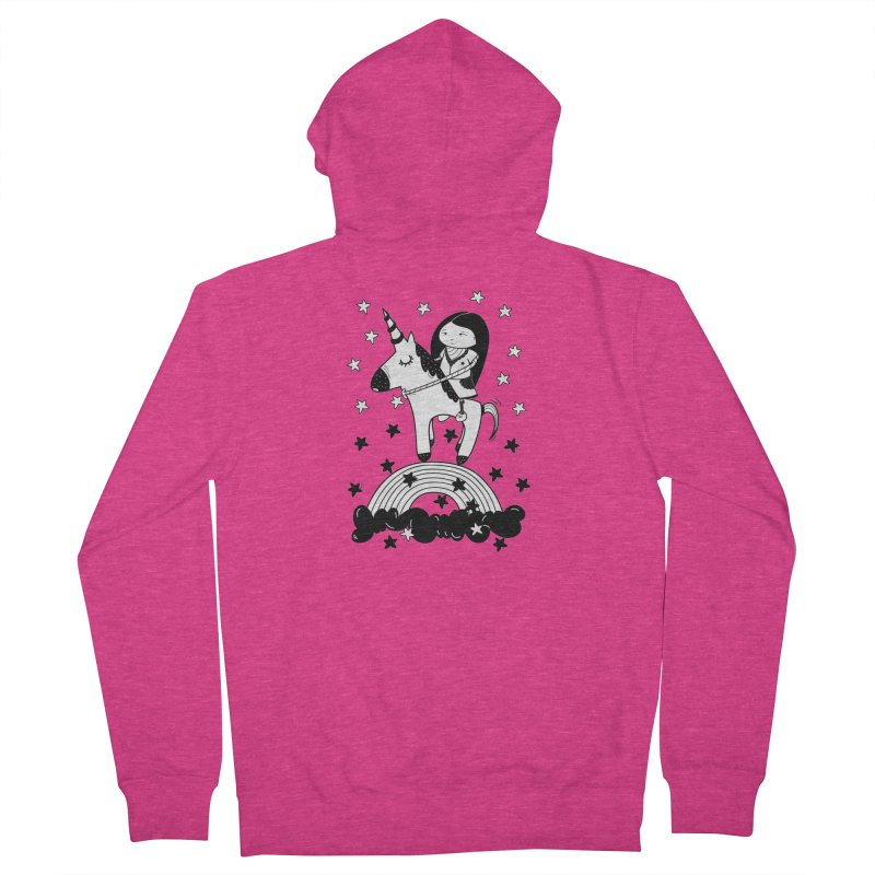 Zeginella_2 Women's French Terry Zip-Up Hoody by coclodesign's Artist Shop