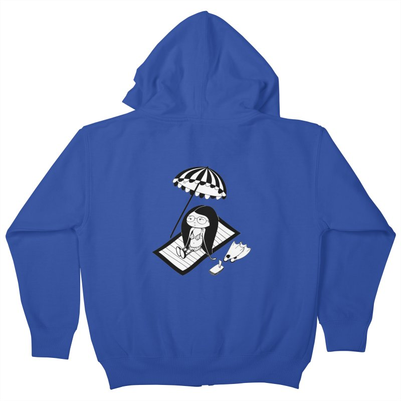 Zegi to the sea Kids Zip-Up Hoody by coclodesign's Artist Shop