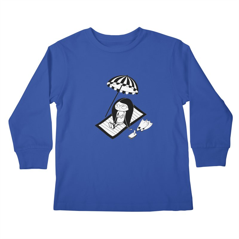 Zegi to the sea Kids Longsleeve T-Shirt by coclodesign's Artist Shop