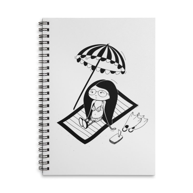 Zegi to the sea Accessories Lined Spiral Notebook by coclodesign's Artist Shop