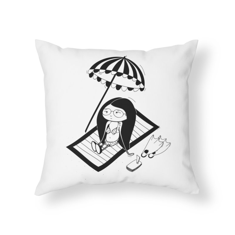 Zegi to the sea Home Throw Pillow by coclodesign's Artist Shop