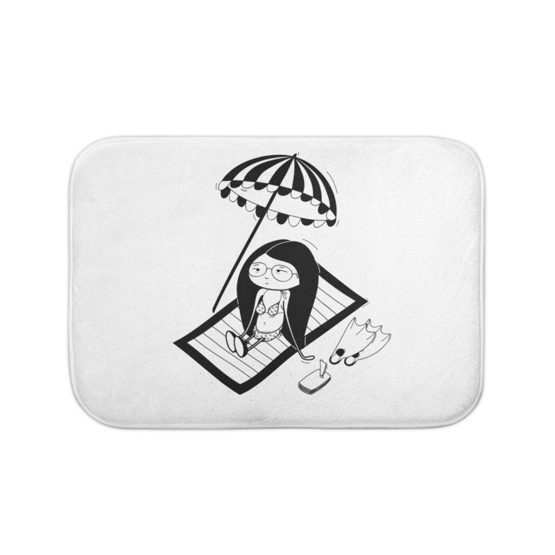Zegi to the sea Home Bath Mat by coclodesign's Artist Shop