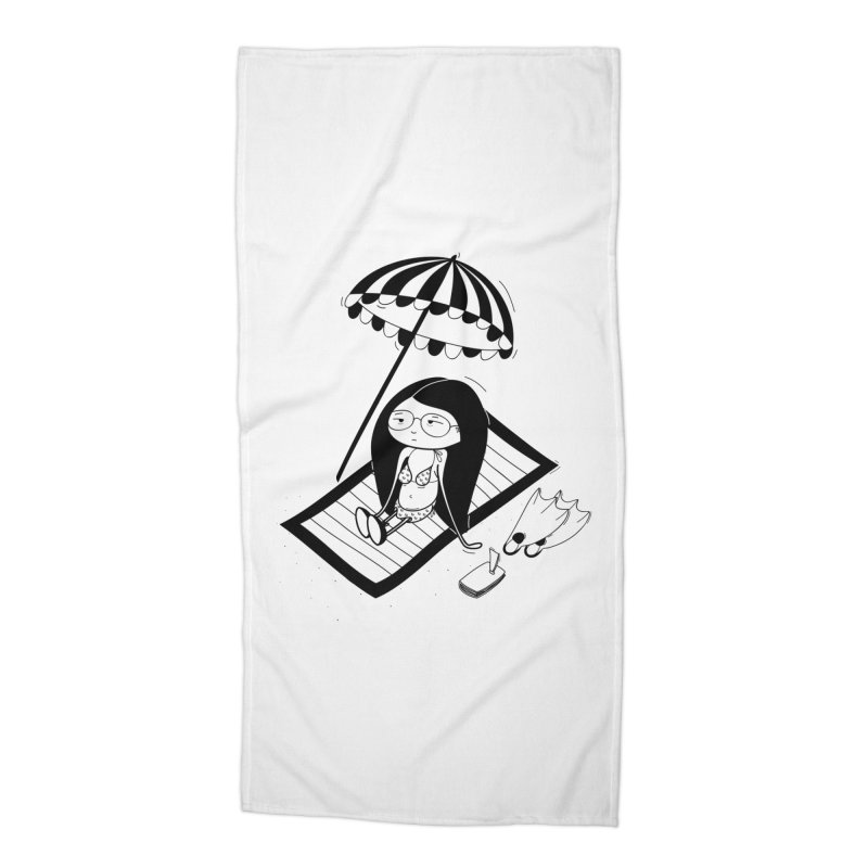 Zegi to the sea Accessories Beach Towel by coclodesign's Artist Shop