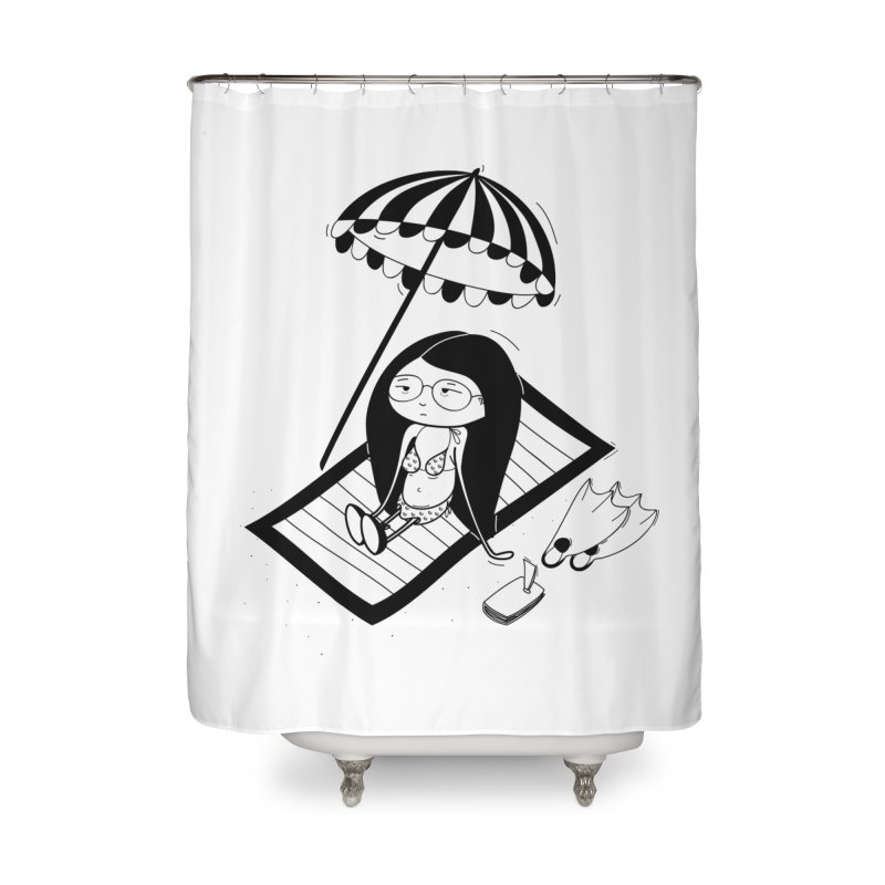Zegi to the sea Home Shower Curtain by coclodesign's Artist Shop