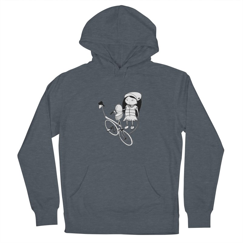Zeginella rides a bike Women's French Terry Pullover Hoody by coclodesign's Artist Shop
