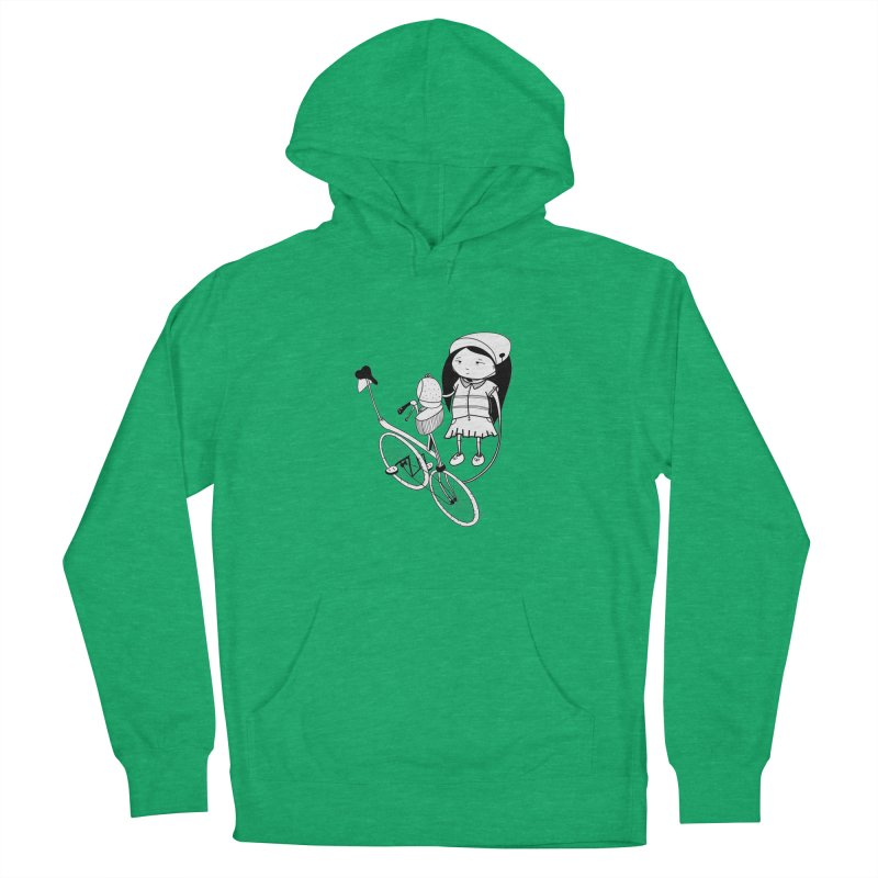 Zeginella rides a bike Men's Pullover Hoody by coclodesign's Artist Shop
