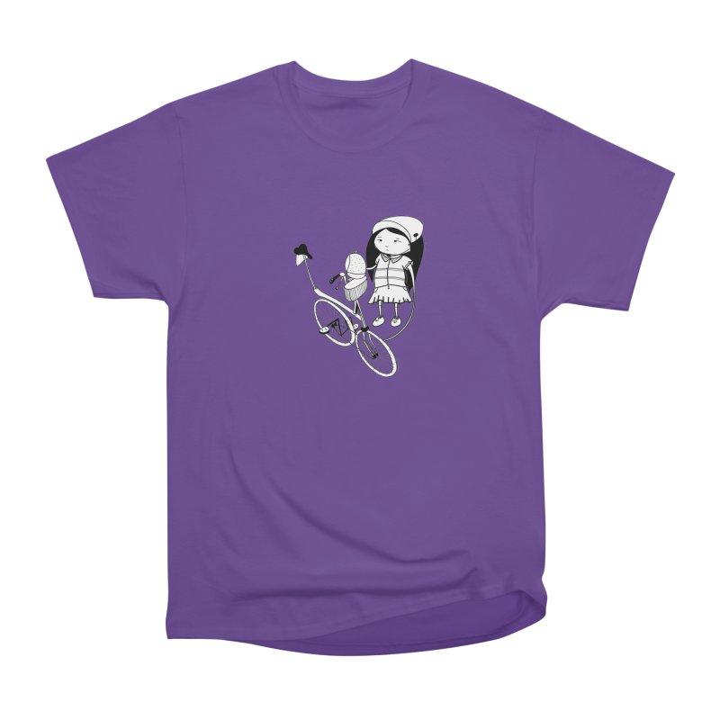 Zeginella rides a bike Men's Heavyweight T-Shirt by coclodesign's Artist Shop